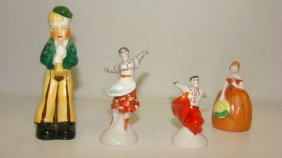 4 Small Vintage Porcelain Figures