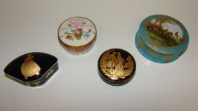 4 Various Limoge Porcelain Boxes