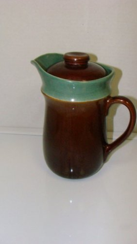 Redwing Pottery Pitcher-village Green