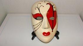 Harlequin Paper Mache Mask