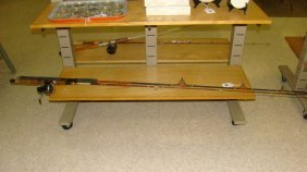 2 Vintage Fishing Rods With Reels