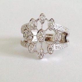 14k White Gold 1 Carat Diamond
