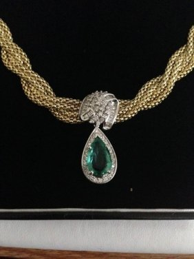 Emerald & Diamond Necklace *certified*