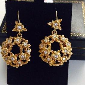 18k Gold & Diamonds Authentic Stephen Dweck Earrings