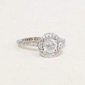 14k White Gold 2 Carat Diamond Engagement Ring