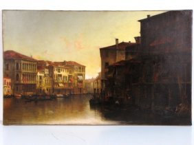 """THADEUS DeFREES PAINTING """"JUST BEFORE SUNSET, VENICE"""