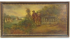 19th C. FRENCH GENRE PAINTING Of A COURTING COUPLE