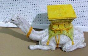 Ceramic camel pedestal table base lot 523 - Ceramic pedestal table base ...