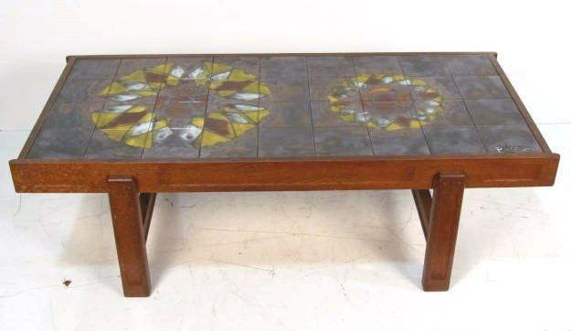 Belarti Ceramic Art Tile Top Coffee Table Lot 62