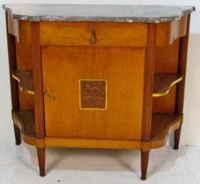 ITALIAN STYLE DECORATED MARBLETOP COMMODE
