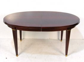 DIRECTOIRE STYLE BRONZE  MOUNTED EXTENSION DINING TABLE
