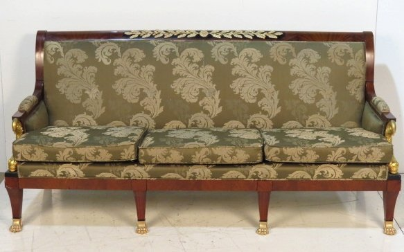 French Empire Style Bronze Mounted Sofa W Dolphins Lot 311