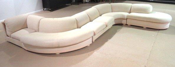roche bobois s shaped sectional sofa lot 793