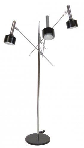1960's Modern Adjustable Chrome Floor Lamp