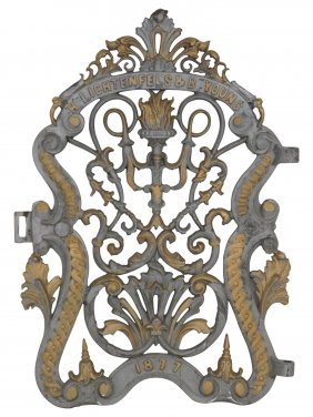 1877 Lichtenfels & Young Cast Iron Gate