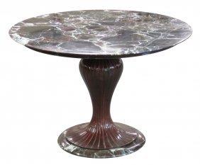 Buffa Style Mahogany & Marble Center Table