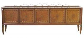 Italian Art Deco Burl Wood Sideboard