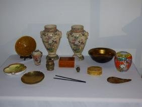 Group Of Asian-themed Decorative Articles