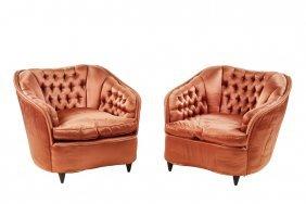 Gio Ponti Silk Lounge Chairs