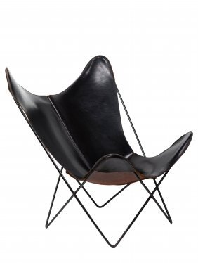 Jorge Ferrari-hardoy Leather Butterfly Chair