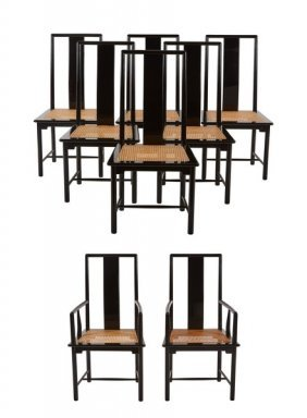 Italian Lacquered Dining Chairs (8)