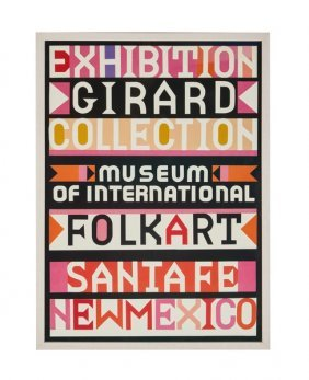 Alexander Girard Screenprinted Poster