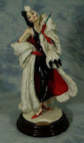 """Armani Porcelain Cruella De Vil, LE Of 750, 14"""" Tall"""