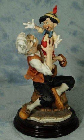 Armani Porcelain Figurine, Geppetto &  Pinocchio, 12
