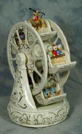Lenox Porcelain Figurine, Mickey & Friends At The F