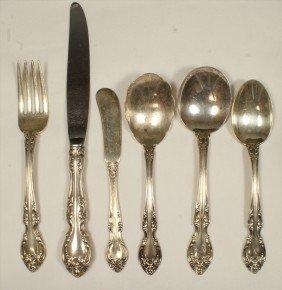 41 Pcs Gorham Melrose Sterling Silver Flatware, C/o