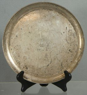 """S Kirk & Son Sterling Silver Round Tray, 11"""",  23.4"""