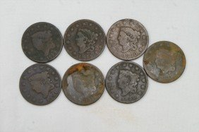 7 Different Date Large Cents Mostly AG To G 1816, 1