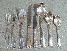 52 Pcs Towle Petit Point Sterling Silver Flatware,