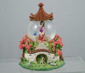 """Mulan Musical Snow Globe, """"Reflections"""", 7 �"""" Tal"""