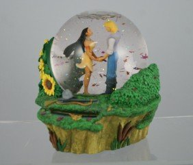"Pocontas Musical Snow Globe, ""Colors Of The Wind"""