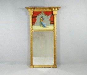 Gilt Federal Wall Mirror With Egliomaise Panel De