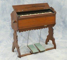 """Walnut Traveling Organ By Mason & Hamlin, 32"""" W X"""