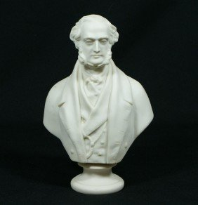Copeland Parian Bust Of Lord George Bentinck (18
