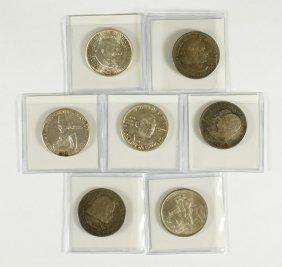 7 Different Commemorative Halves Mostly VF/AU, 18