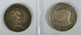 2 Commemorative Halves: 1918 Lincoln (VF+) And A