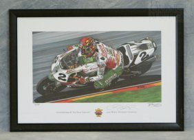 "Tim Berry Print ""Colin Edwards II ""The Texas Tornad"