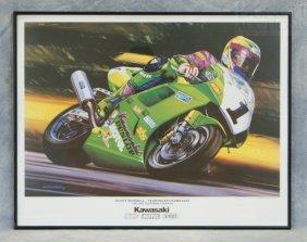 Hector Cademartori Motorcycle Print, Scott Russell