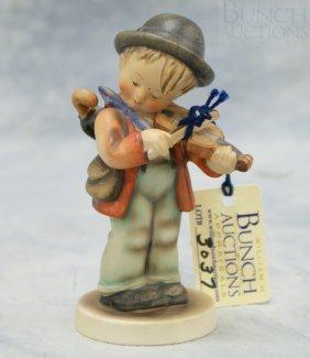 """Hummel Figurine """"Little Fiddler"""" No 4, 5"""" Tall, F"""