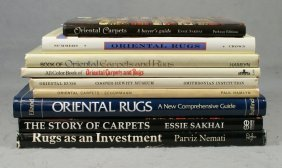 (9) Oriental Rug Reference Books, Oriental Rugs,