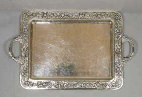 "Sterling Silver Mexican Tray, Marked ""Real Silver"