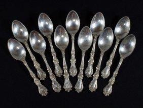 11 Gorham Sterling Silver Teaspoons, Pat 1900, Mo