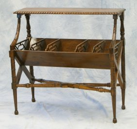 "Mahogany Regency Style Book Shelf, 34"" Wide X 34"
