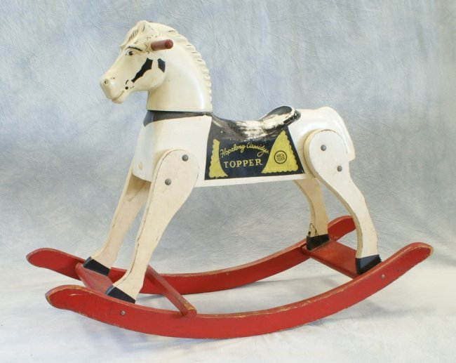 Toys For The Wealthy : Hopalong cassidy topper rocking horse by rich toys lot