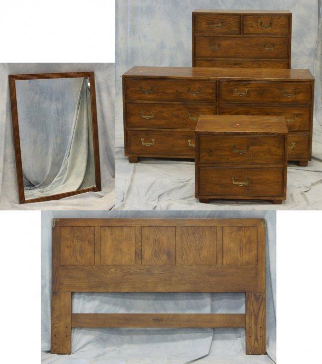 5 Piece Henredon Artefacts Line Bedroom Set Consisting