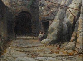 Pietro Sassi (italian, 1834-1905), Oil On Board,
